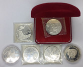 Samoa I Sisifo: $1 & $10 Collection 6 Coins Silver