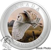 Canada: 2013 25 Cents Barn Owl Coloured Coin