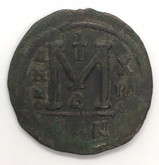 Byzantine: Justinian I the Great AD 527-565. AE follis or 40 nummi