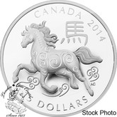 Canada: 2014 $15 The Year of the Horse Silver Coin
