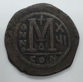 Byzantine: Justinian I the Great AD 527-565. AE follis or 40 nummi Lot#5