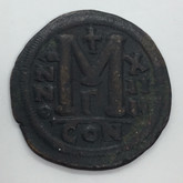 Byzantine: Justinian I the Great AD 527-565. AE follis or 40 nummi Lot#6
