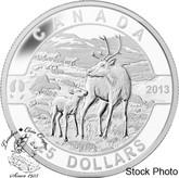 Canada: 2013 $25 Caribou O Canada Series 1 oz Pure Silver Coin
