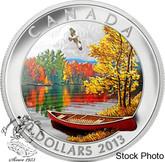 Canada: 2013 $20 Autumn Bliss Coloured Silver Coin