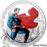 Canada: 2013 $20 Superman™ Man of Steel™ Silver Coloured Coin