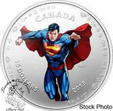 Canada: 2013 $15 Modern Day Superman™ Silver Coloured Coin
