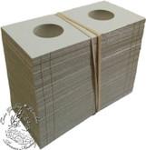 100 x 5 Cent size Cardboard 2x2 Flips (Holders)