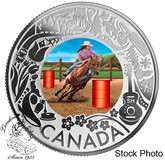 Canada: 2019 $3 Celebrating Canadian Fun and Festivities: Rodeo Pure Silver Coloured Coin