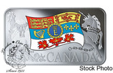 Canada: 2019 $25 Her Majesty Queen Elizabeth II's Personal Canadian Flag Pure Silver Coin