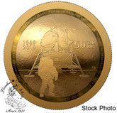 Canada: 2019 $100 50th Anniversary of the Apollo 11 Moon Landing Pure Gold Coin