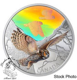 Canada: 2019 $30 Majestic Birds in Motion: Great Horned Owls Fine Silver Coin