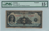 Canada: 1935 $2 Banknote - Banque Du Canada French BC-4 PMG F15 Stains