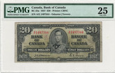 Canada 1937 $20 Banknote Osborne-Towers A/E BC-25a PMG VF25 Annotations