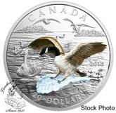 Canada: 2018 $20 3D Approaching Canada Goose 1 oz. Silver Coin