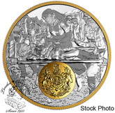 Canada: 2018 $20 First World War Allies: Great Britain 1 oz. Fine Silver Gold-Plated Coin