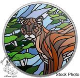 Canada: 2018 $20 Canadian Mosaics: Cougar 1 oz. Pure Silver Coin