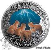 Canada: 2018 $50 Nature's Light Show: Stormy Night Fine Silver Coin