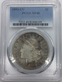 United States: 1893-CC Morgan Dollar PCGS XF40