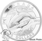Canada: 2013 $25 Orca O Canada Series 1 oz Pure Silver Coin