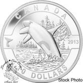 Canada: 2013 $10 Orca O Canada Series 1/2 oz Pure Silver Coin