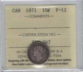 Canada: 1871 10 Cent ICCS F12