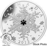 Canada: 2013 $20 Winter Snowflake with Black Crystal Silver Coin