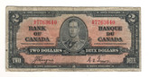 Canada: 1937 $2 Bank Of Canada Banknote BC-22c Lot#20