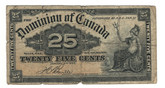 Canada: 1900 25 Cent Banknote Dominion of Canada DC-15b Lot#26