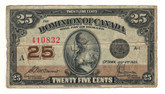 Canada: 1923 25 Cent Banknote Dominion of Canada DC-24c Lot#60