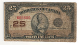 Canada: 1923 25 Cent Banknote Dominion of Canada DC-24d Lot#57