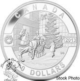 Canada: 2013 $10 Holiday Season 1/2 oz Pure Silver Coin