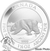 Canada: 2013 $8 Polar Bear 1 1/2 oz Proof Silver Coin