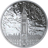Canada: 2019 $20 Lights of Parliament Hill 1 oz. Pure Silver Coin