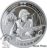Canada: 2019 $20 Second World War Battlefront: The Battle of the Scheldt 1 oz. Pure Silver Coin