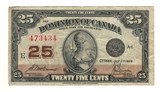 Canada: 1923 25 Cent Banknote Dominion of Canada DC-24c lot#99