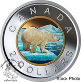 Canada: 2019 $2 Coloured Selective Gold-Plating Pure Silver Coin