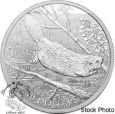 Canada: 2014 $50 Silver Swimming Beaver 5 oz Silver Coin