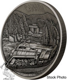 Canada: 2019 $250 100th Anniversary of CN Rail Pure Silver Concave Ultra-High Relief One Kilogram Coin