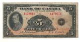 Canada: 1935 $5 Banknote - Bank of Canada A179610
