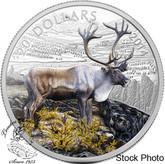 Canada: 2014 $20 Caribou Coloured 1 oz Silver Coin