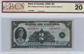 Canada: 1935 $2 Banknote - Bank of Canada English BCS VF20