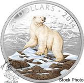 Canada: 2014 $20 Iconic Polar Bear Coloured 1 oz Silver Coin