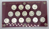 United States: 1941 to 1945 Mercury Dime Coin Set