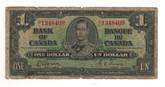 Canada: 1937 $1 Bank Of Canada Banknote BC-21c Lot#28