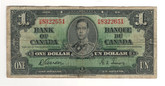 Canada: 1937 $1 Bank Of Canada Banknote BC-21c Lot#35