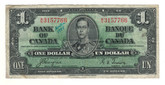 Canada: 1937 $1 Bank Of Canada Banknote BC-21d with Writing Lot#2