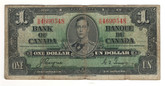 Canada: 1937 $1 Bank Of Canada Banknote BC-21d Lot#25