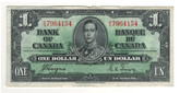 Canada: 1937 $1 Bank Of Canada Banknote BC-21d Lot#26