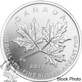 Canada: 2011 $10 Maple Leaf Forever 1/2 oz Silver Coin