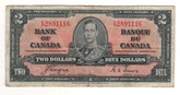 Canada: 1937 $2 Bank Of Canada Banknote BC-22c Lot#24